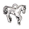 Charm Horse Antique Silver
